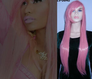 BRAND NEW: 80cm Long Straight Baby Pink Cosplay Wig