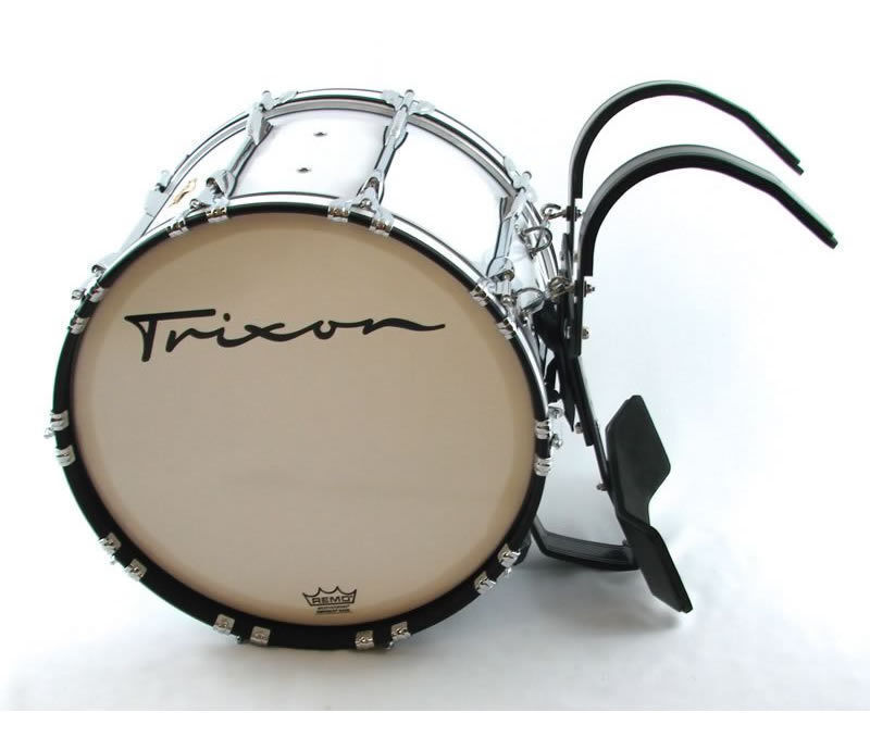 "Trixon Field Series Pro Marching Bass Drum 28 by 14"" White"