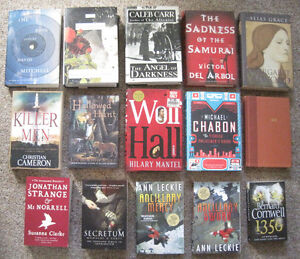assorted books for sale - fantasy, sci-fi, general fiction