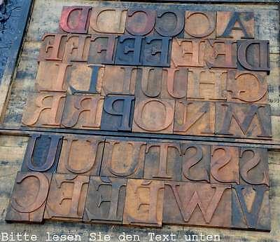 HOLZLETTERN RAR 11,3 cm Holzbuchstabe Lettern Typographie Holzbuchstaben ABC