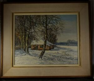 C. H. BELTMAN (Dutch Artist) Oil on Canvas Winter Scene