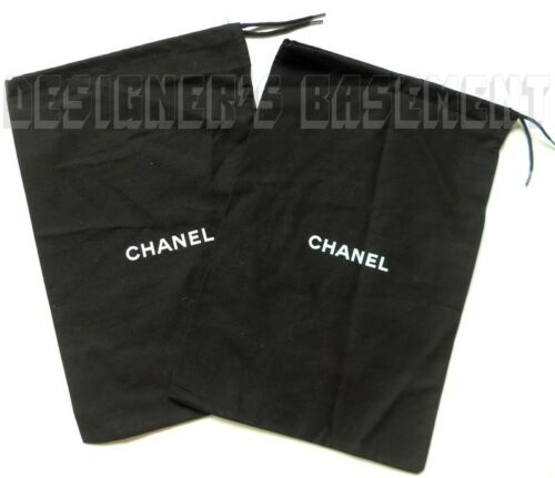 """Set of 2 CHANEL Dust Bags string tie 8.5 x 13.5"""" for Shoes or Purse NEW Authentc"""