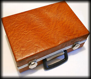 Vintage 1970's ~ Genuine Leather ~ CASSETTE CARRYING CASE