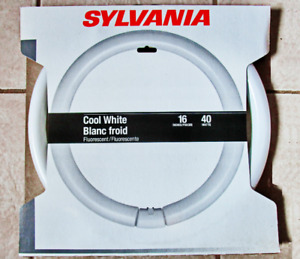 "16"" Sylvania Circline Cool White Fluorescent Light Bulbs 40W"