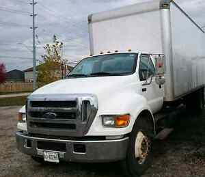2006 Ford f650 with 24 ft box for sale selling As Is