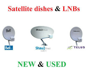 SHAW DIRECT / TELUS / BELL dishes and LNBs - new and used