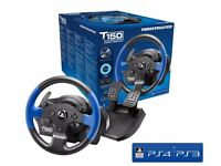 Thrustmaster T150 Force Feedback Wheel + Pedals - Boxed, like new. PS4, PS3 & PC compatible