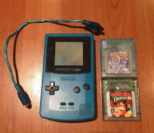 Game Boy Color, 2 Games: Pokemon Crystal, & Donkey Kong Country