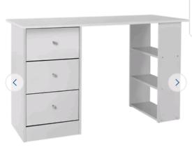 Brand new 3 drawer white desk