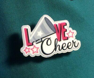 Cute CHEERLEADER CheerLeading Love Cheer Megaphone Sport Clog Shoe -