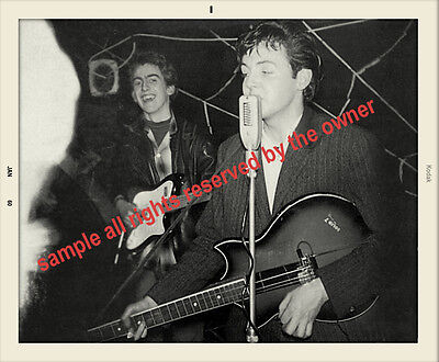 THE BEATLES VERY EARLY NIGH CLUB SNAPSHOT JAN 60  OF PAUL MCCARTNEY AND GEORGE  on Rummage