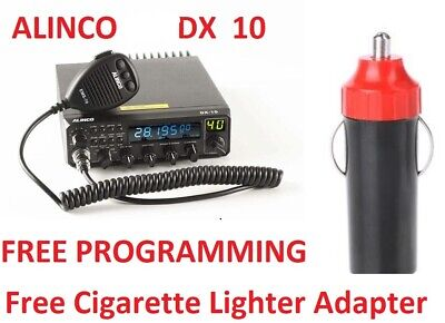 ALINCO 135 DX 10 Ham Radio SSB CRE 8900 PRE PROGRAMED FREE Cig Adapter