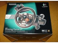 Logitech Driving Force GT For PS3 Steering wheel + Pedal Boxed