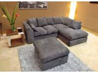 BRAND NEW COUCHES DYLAN JUMBO CORD CORNER & 3+2 SITTER SOFA SUITE ORDER NOW