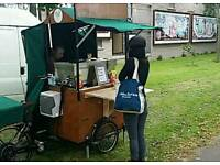 Vintage mobile food vending trike