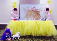 Birthday party decorations rental