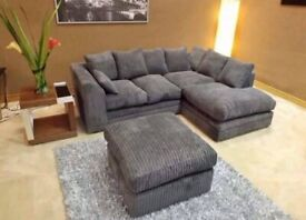 COUCHES DYLAN JUMBO CORD CORNER AND 3+2 SEATER SOFA AVAILABLE IN STOCK ORDER NOW