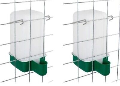 2 x 1 L Cage Drinker - Chicken/Quail/Pigeon/Chick Drinker with bracket