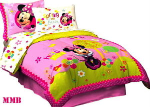 disney minnie mouse girls pink full double size licensed
