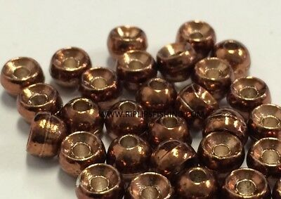 """BRASS FLY TYING BEADS GLOSSY BLACK 3.0 MM 7//64/"""" 200 COUNT"""