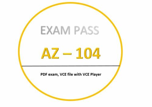 AZ-104 Exam dumps in PDF,VCE - 28/02 updated!! 274 Questions!!