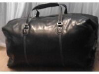 Black Large Next Signature Duffel Travel Gym Weekender Holdall Bag.
