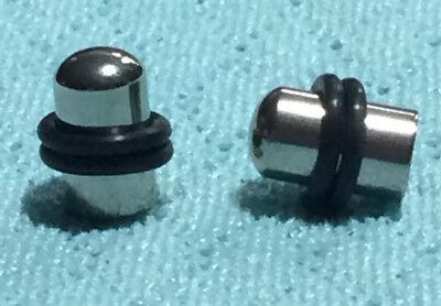 Pair 316L Steel Bullet Plugs with O-rings Earrings 2 Gauge piercing jewelry