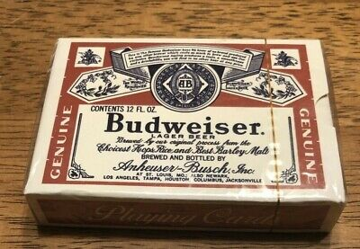 Budweiser King of Beers Playing Cards - New Sealed Package (2016)