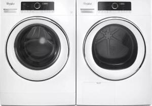 Combo laveuse-sécheuse Whirlpool 24 po, Superposable, Blanc, Showroom