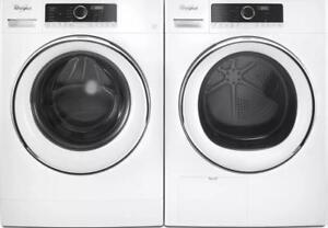 24-inch Whirlpool Washer-Dryer Combo, Stackable, White