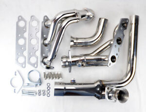 Stainless Exhaust Manifold Headers w/ Downpipe Fits Chevy Camaro 95-99 3.8L V6
