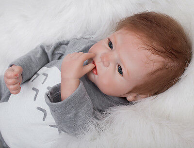 "Bambole 22"" Reborn Baby Doll Realistic Newborn Doll Baby Toys Gifts"