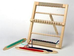 Medium Size Traditional Wooden Weaving Loom & Accessories Childrens Craft 4701