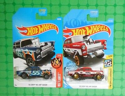 2019 Hot Wheels #204 - '55 Chevy Bel Air Gasser w/ 2017 Edition