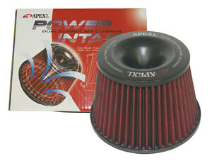Universal-APEXI-Power-Intake-Flow-Reloaded-Air-Filter-Dual-Funnel-Adapter-75mm