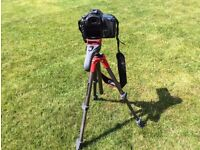 Manfrotto Compact Action Red Tripod + Case bag
