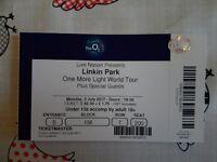 Linkin Park one ticket London 3rd July