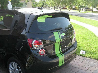 """Checy Sonic 6"""" offset Rally Stripe Stripes Decals Graphics Fit All Body Styles"""