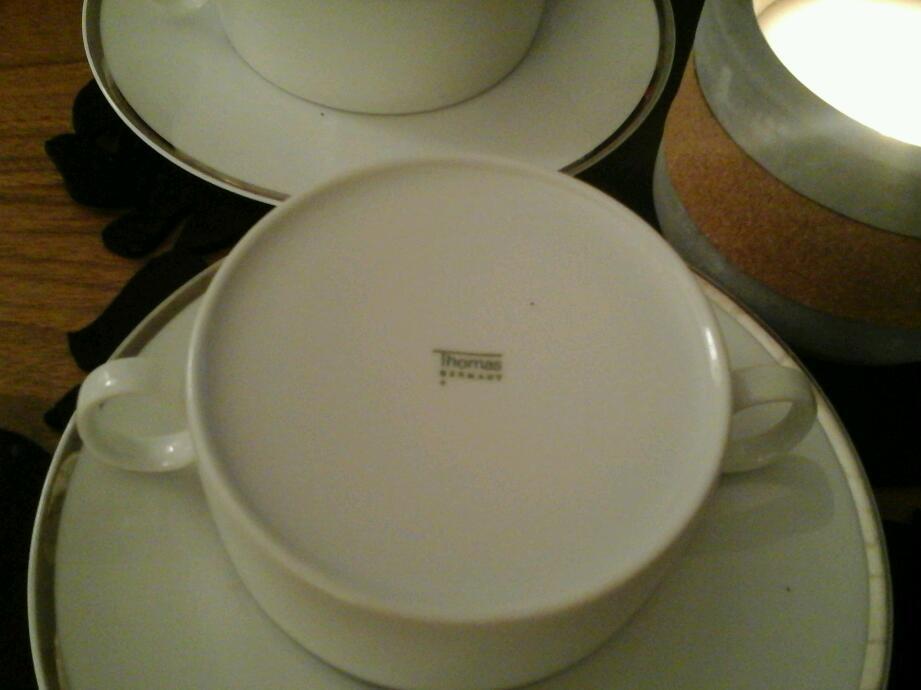 Thomas platinum soup bowls