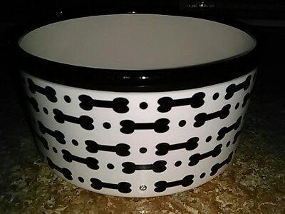 Stoneware Ceramic Dog Bowl Dish * Brand New! * Petrageous Brand * Food or Water!