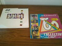 Sixties Vinyl 2 x 3 record compilations.