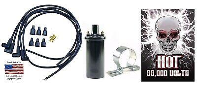 Avery Tractor Spark Plug Wire Set Premium Copper Core 12v Hot Coil