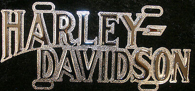 Harley Davidson Motorcycle Die Cast License Plate Top Frame Tag Cycle Chrome