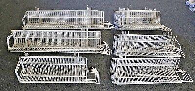 Lot Of 38 White Dvdblu-raybook Slatwall Shelves Various Sizes Local Pickup Nj