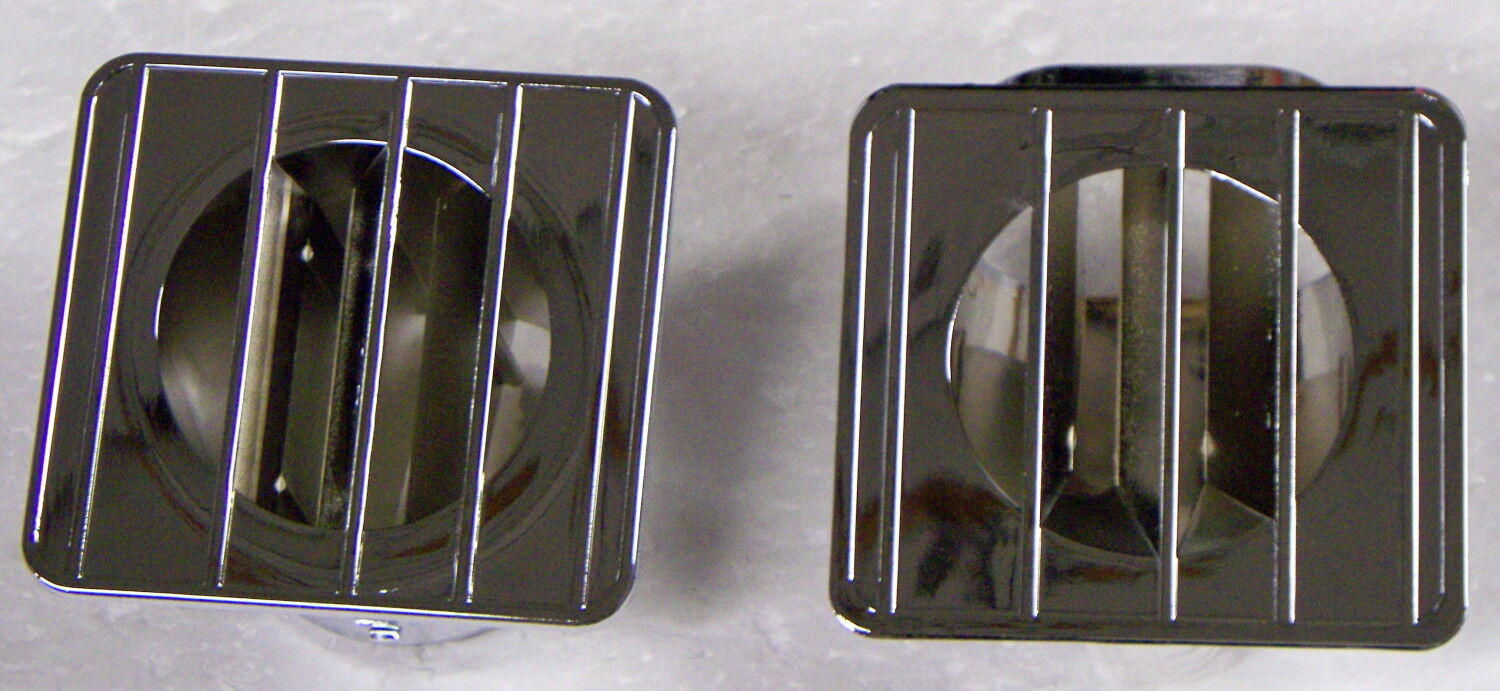 1967-72 Chevy Gmc Truck Heater Top Of Dash Defrost Outlet Chrome Lh & Rh