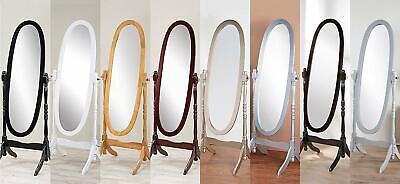 Swivel Full Length Wood Cheval Floor Mirror, White/Oak/Cherry/Black/Gold/Silver ()