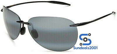 Maui Jim 421-02 Sunglasses Sugar Beach Gloss Black / Grey Polarized (Maui Jim Beach Sunglasses)