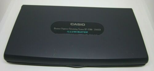 CASIO Organizer Scheduling System SF-5780 256K Executive BOSS lluminator Tested
