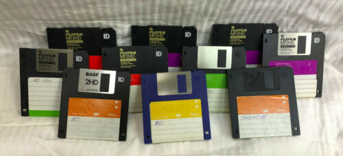 "Lot of (93) Used 3.5"" Diskettes"
