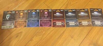 Past Three Years Of Expired Halloween Horror Nights Unusued Tickets - Days Of Halloween Horror Nights